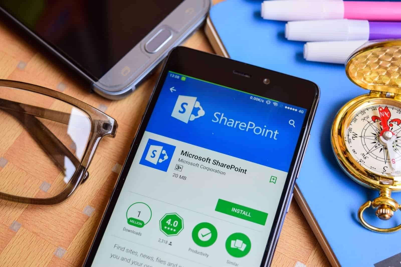 SharePoint App Bar