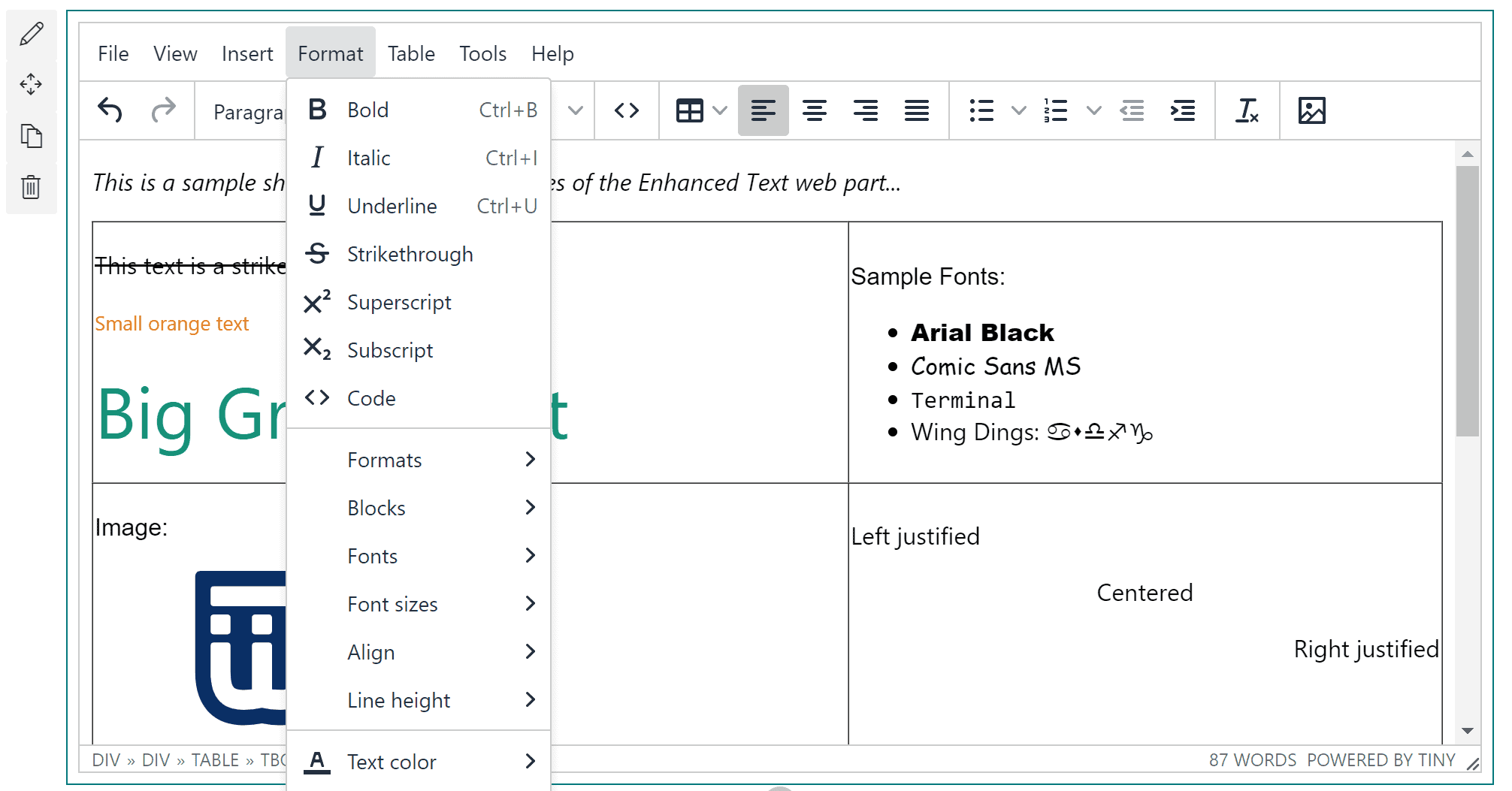 Enhanced Text Editor Image