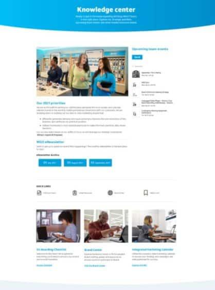 Global Marketing Intranet - Knowledge Center