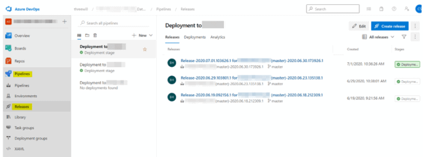 Create a Azure DevOps Release
