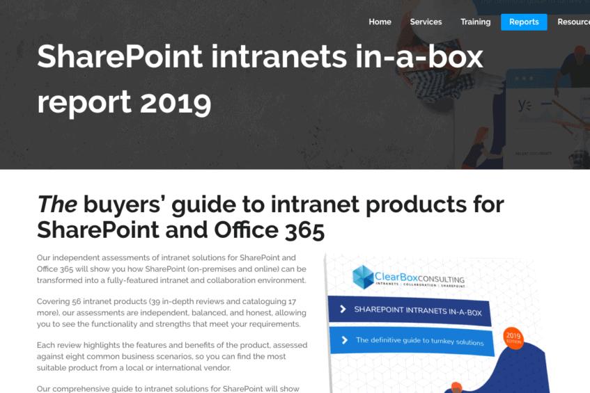 SharePoint IIAB Report