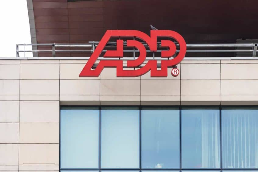 ADP Logo on a Building