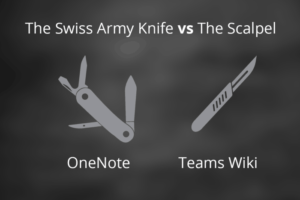 OneNote vs Teams Wiki