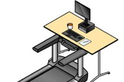 stand up desk with treadmill